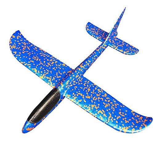 (Hofumix Airplane Model Foam Model Aircraft Toy Mini Hand Throw Model Plane Toy Free Flight Hand Launch Glider for Children Kids Photo Props(Blue) )