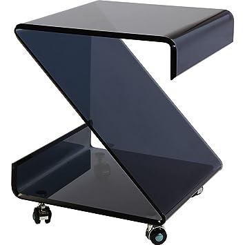 Side Table 40 Euro.Bhp Side Table On Wheels Black 40 X 52 X 43 Cm Amazon Co Uk