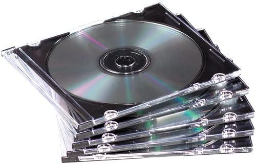 Fellowes 98316 Neato Slim Jewel Cases Clear 25Pack