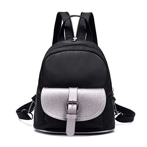 Nylon Red Chest Simple Shoulder Black Linge Backpack Casual Bags Women Women Double Rose Bag An0fAq71