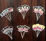 WONDER WOMAN SUPERHERO GIRLS CUPCAKE TOPPERS BIRTHDAY PARTY SUPPLIES SET OF 24