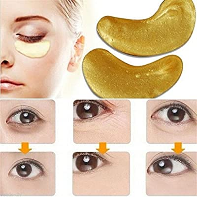 OrliverHL 5 Pack Premium Crystal Gold Collagen EYE Mask Crystal Bio Anti Wrinkle Moisture Skin Care Patch Pad