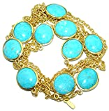 SilverRush Style Turquoise Women 925 Sterling Silver Necklace - FREE GIFT BOX