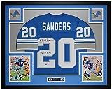Barry Sanders Autographed Blue Detroit Jersey