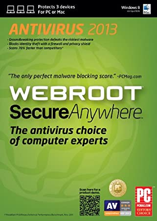 Webroot SecureAnywhere AntiVirus 3 Device for Mac 2013 [Download]