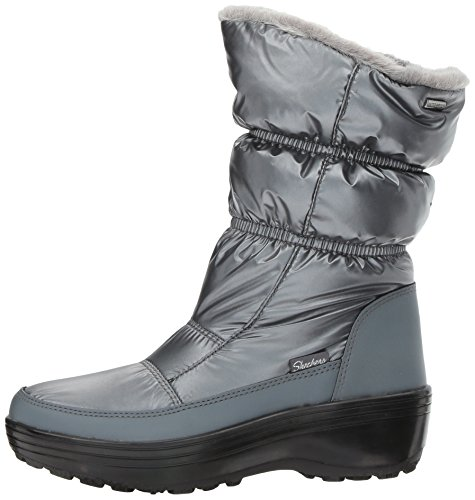 Alaska Snow abyss Silver Women''s Pew Boots pewter Skechers t1Zwqq