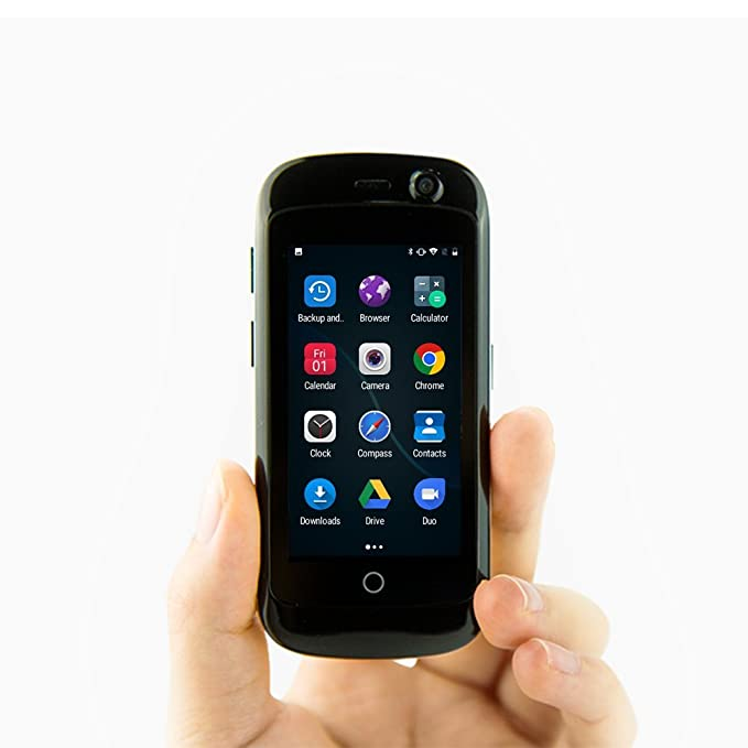 Unihertz Jelly Pro, el Smartphone 4G más pequeño del Mundo, Android 7.0 Nougat Smartphone Desbloqueado con 2GB de RAM y 16 GB de ROM, Negro Espacial
