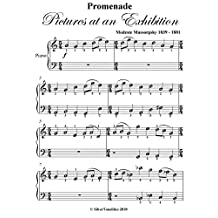Promenade Pictures at an Exhibition Mussorgsky Easy Piano Sheet Music