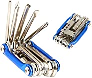 FULARR 11-in-1 Bike Multifunction Repair Tool, Compact Lightweight Portable Foldable Bicycle Multitool, Stainl