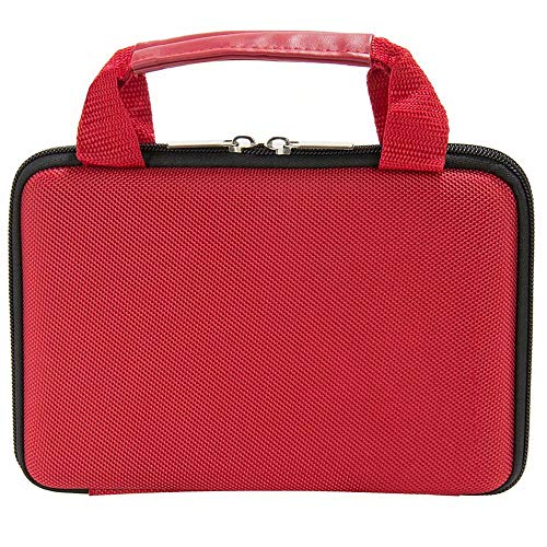 Special Edition Hard Shell Cube Carrying Case with Handle Fit Chuwi Hi8 Air, Lenovo Tab E8, Alldaymall A88T, Asus Zenpad Z8S ZT582KL, HP Pro Slate 8, Irulu Expro X4, Amazon Fire 7, Red ()