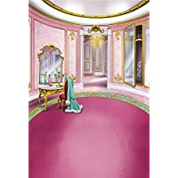 Kooer 5x7ft Pink Princesss Room Style Photography Backdrops Animation Cartoon Style Photography Backgrounds Photo Studio Prop Baby Children Family Photoshoot Backdrop Customized Various Size