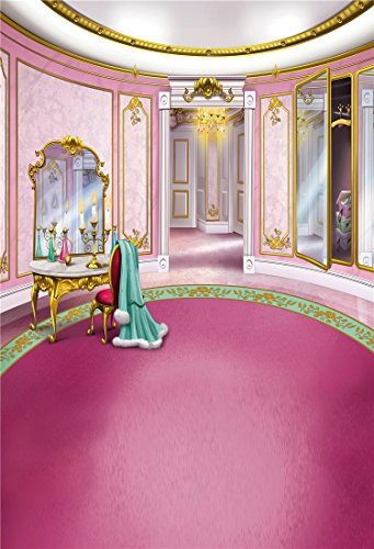 Kooer 5x7ft Pink Princess's Room Style Photography Backdrops Animation Cartoon Style Photography Backgrounds Photo Studio Prop Baby Children Family Photoshoot Backdrop Customized Various Size (Disney Halloween Background)