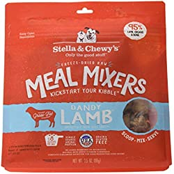 Stella & Chewy's Freeze-Dried Raw Dandy Lamb Meal Mixers Grain-Free Dog Food Topper, 3.5 oz. bag