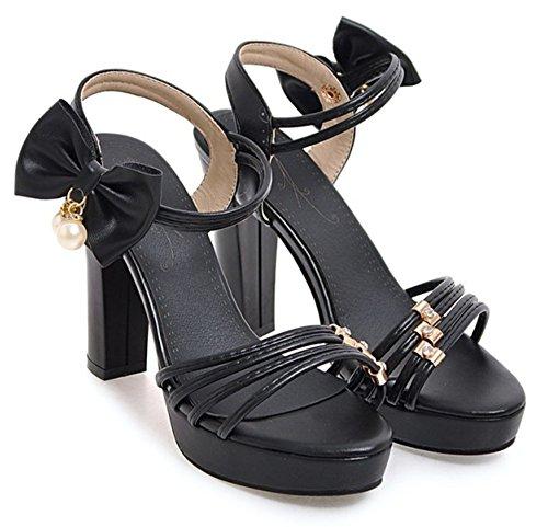 Sandali Con Plateau Tacco Alto Elasticizzati Con Cinturino Alla Caviglia Sweetemax Da Donna