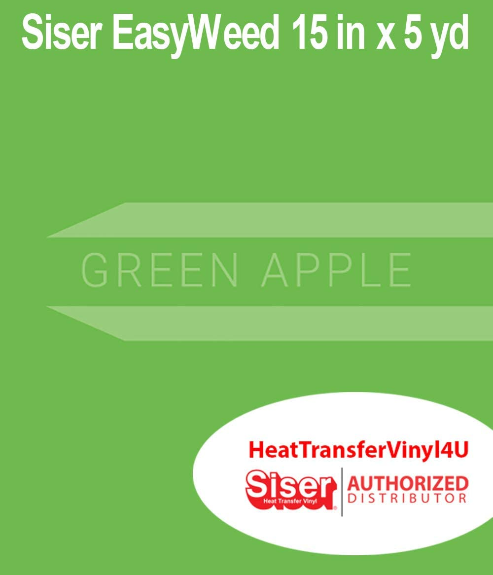Siser Easyweed Heat Transfer Vinyl Green Apple 15 Inches by 5 Yards