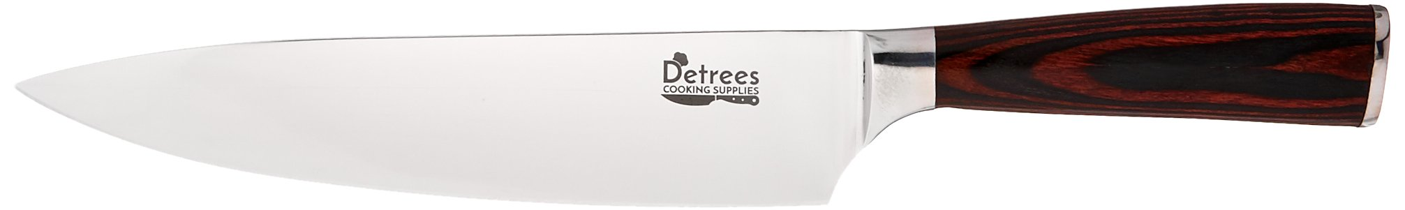 Detrees Chef Knife, All Purpose 8 Inch Kitchen Knife, Razor Sharp Knife, Durable, Rust-Proof Chefs Knife, High Carbon Stainless Steel—Perfect Kitchen Knives for Home Chefs and Cooks