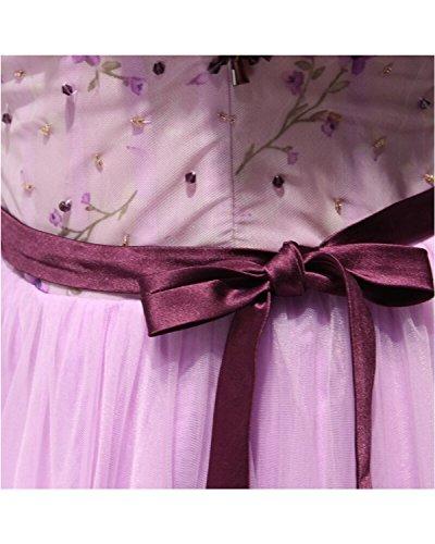 Mariée Longue Robe De Bal Du Soir De Fête De Mariage Floral De Annie Pour La Mariée Taille Plus 2017 Lavande