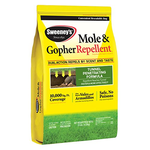 Sweeney's S7002-2 Mole and Gopher Repellent Granules, 10 lb