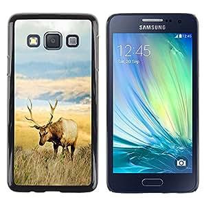 YiPhone /// Prima de resorte delgada de la cubierta del caso de Shell Armor - El campo de los ciervos - Samsung Galaxy A3