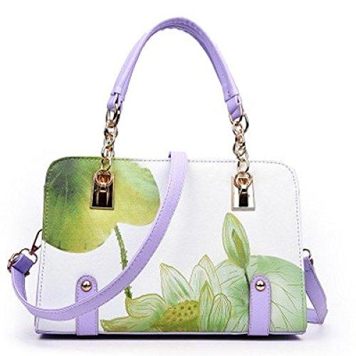 Bag Bag Green Ladies Handbag Handbag Messenger Printed Fashion Shoulder Ladies gqwvn4