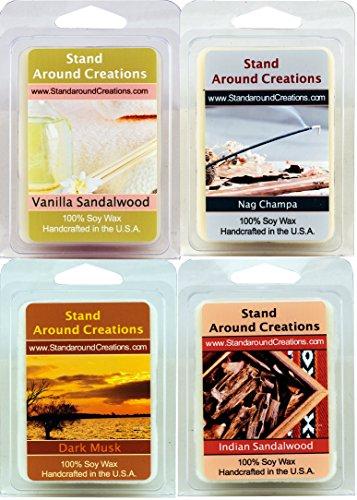 Set of 4- Premium 100% All Natural Soy Wax Melt Tarts: Vanil