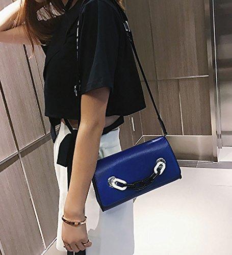 Cartable bandoulière DEERWORD Sacs Femme Sacs Bleu Sacs portés main main épaule Sacs Cuir Sacs à Faux Bleu portés wRZRHq
