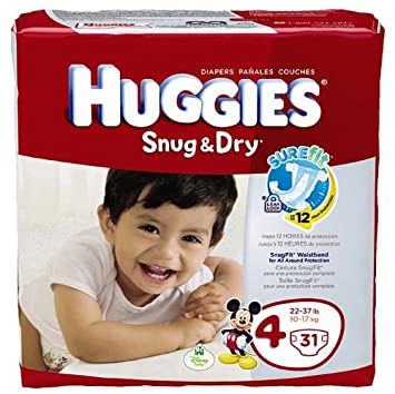 Amazon.com: Huggies Snug and Dry Diapers - Size 4 - 31 ct: Health ...
