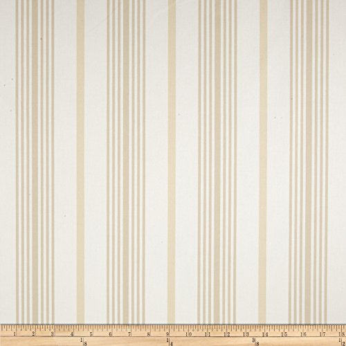 Nautica Wainscot Stripe II Natural Fabric