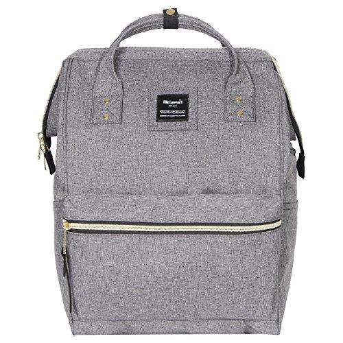 Himawari Polyester Laptop Daypack Vintage Schultertasche Für 14-Zoll Laptop (Grau-USB)