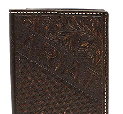 Ariat Men's Embossed Rodeo Wallet w/Ariat Shield