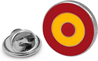 Gemelolandia | | Pin de Solapa Escarapela Española Modelo 2 - RAF Española | Pines Originales Para Regalar | Para las Camisas, la Ropa o para tu Mochila | Detalles Divertidos