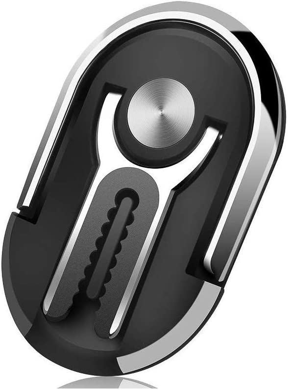 Black Universal Air Vent Phone Mount and Finger Grip Ring Kickstand Phone Ring Holder Stand New 3 in 1 360/°Rotation /& 90/° Flip Multipurpose Mobile Phone Bracket