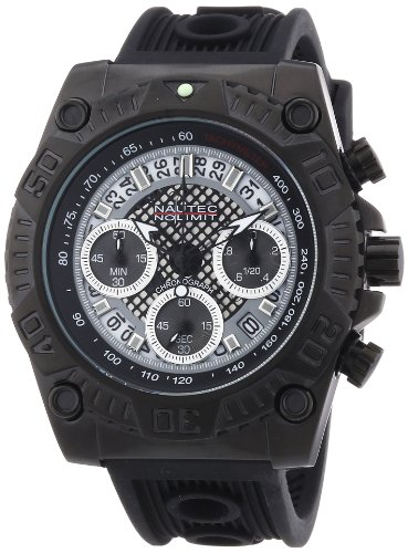 Nautec No Limit Men's Quartz Watch Twister TW QZ/IPIPBK with Metal Strap