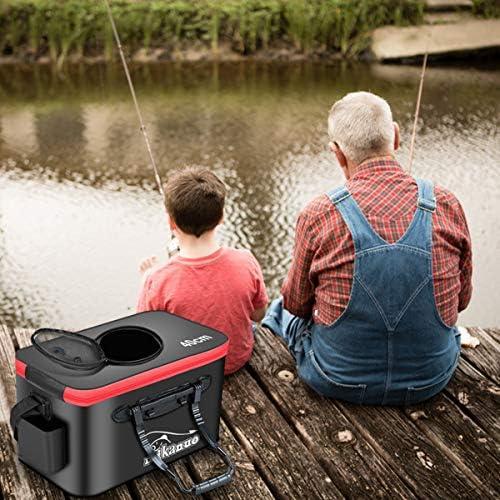 tragbar Songway Zusammenklappbarer Wassereimer aus EVA f/ür Reisen Angeln und Bootfahren Wandern