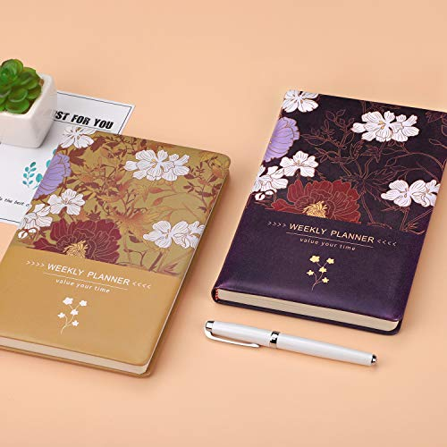 5.7x8.4 Lasts 1 Year Gratitude Journal /& Productivity Organizer Hardcover Monthly and Yearly Agenda to Achieve Goals /& Happiness AHGXG Academic Weekly Undated Day Planner 2019