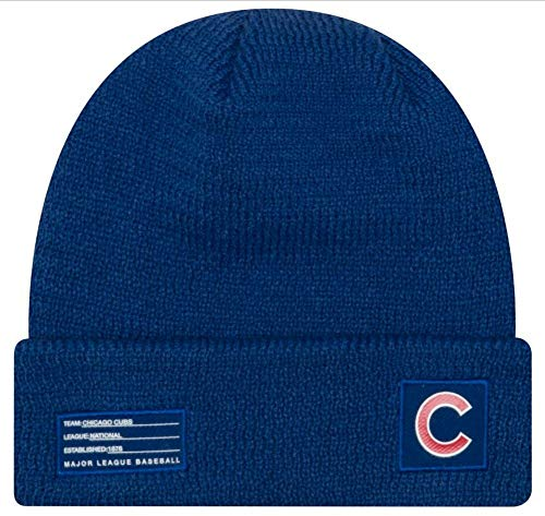 New Era Chicago Cubs Beanie MLB 2018-19 On Field Sport Knit Cap Blue Adult One Size