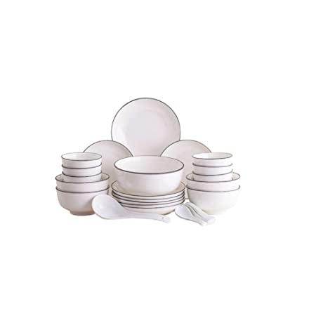 Xiaoningmeng Tazón, tazón (30 Piezas) Tazón de Porcelana + Se ...