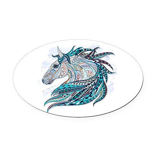 - Oval Car Magnet Maverick Patterned Horse