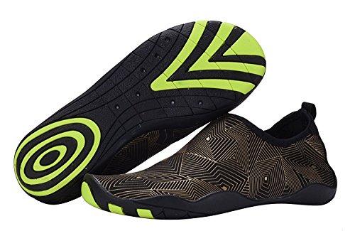 Calcetines Desteñidos Con Agua De Aqua Descalzo Zapatos De Natación De Secado Rápido Para Buceo En La Piscina En La Playa Snorkel Surf-16 Agujeros De Drenaje Z-gold