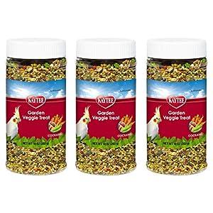 Kaytee 3 Pack of Garden Veggie Cockatiel Treats, 10 Ounces Each 77