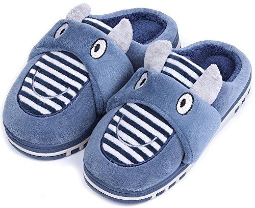 UIESUN Unisex Toddler Kids Slippers Shoes For Boys Girls House Slipper Navy 22