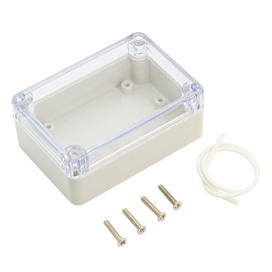 LeMotech ABS Plastic Junction Box, Dustproof Waterproof IP65 Electrical Box - Universal Project Enclosure Grey, with PC Transparent/Clear Cover 3.9'x2.7'x2'(100mm x 68mm x 50mm) with PC Transparent/Clear Cover 3.9x2.7x2(100mm x 68mm x 50mm)