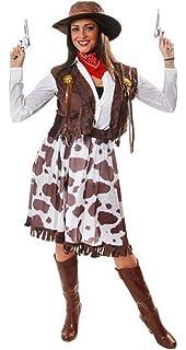 29f765d86437ac 5 Piece Ladies Wild West Jessie Cowgirl Cowboy Sheriff Fancy Dress Costume  Outfit STD   Plus