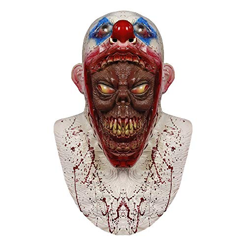 Clown Mask Parasite, Coulrophobia Clown Mask Halloween Costume Party Rubber Masks Creepy Scary Killer Clown Mask -