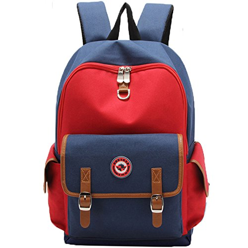 HITOP Elementary School Backpack Bookbags Waterproof Cute Lightweight School Bag For Boys Girls (Red, Large)
