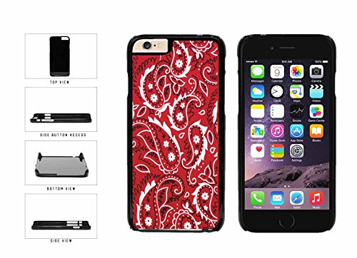 Red Bandana Paisley Plastic Phone Case Back Cover Apple iPhone 6 Plus (5.5 inches screen) includes BleuReign(TM) Cloth and Warranty Label