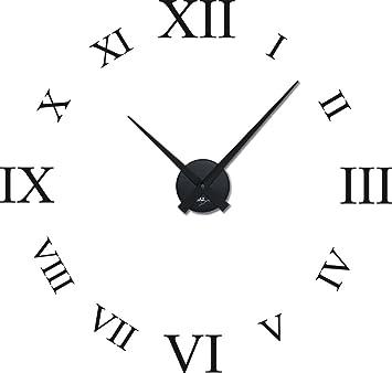 Wanduhr römische zahlen  Graz Design 800378_BK_070 Wandtattoo Uhr mit Uhrwerk Wanduhr ...