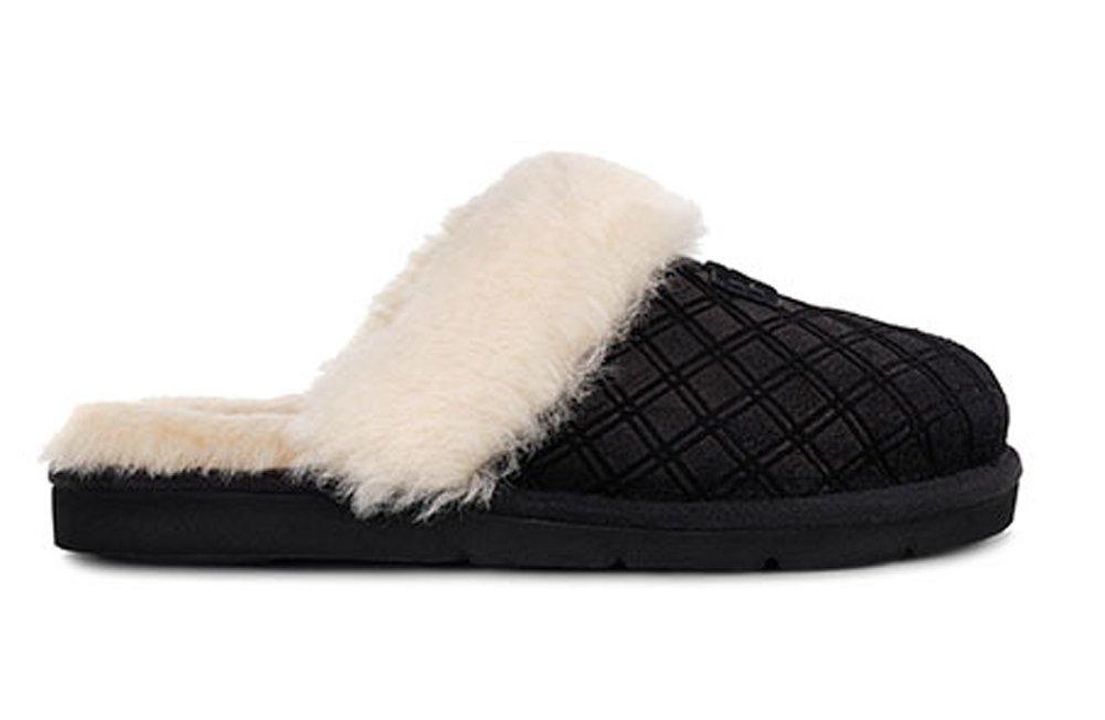 Amazon Ugg Womens Cozy Double Diamond Slipper Black Size 5