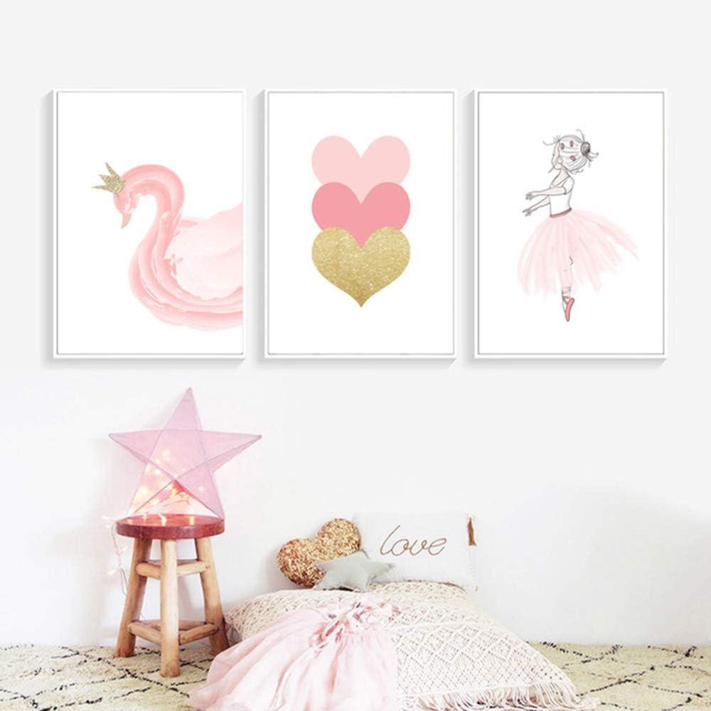 VORCOOL 3D Cils en Bois Sticker Mural pour Chambre de b/éb/é Chambre denfant Rose
