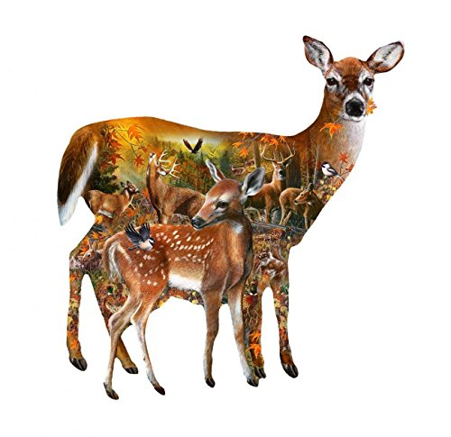 Forest Majesty Shaped 1000 Piece Jigsaw Puzzle by SunsOut
